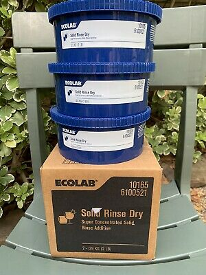 Ecolab SOLID RINSE DRY High Performance Solid Rinse Additive - 1 Capsule