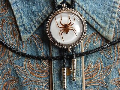 Handcrafted in the UK Large Lolita Skull Head Skeleton Bolo Bootlace Tie Silver metal Goth Ladies Mens  Western Cowboys