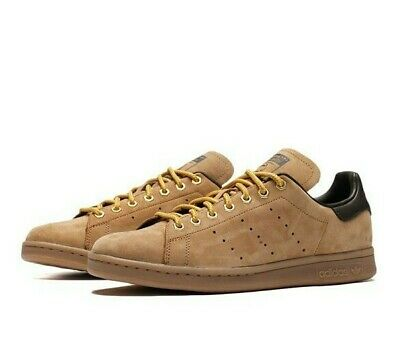 ADIDAS STAN SMITH Wp Mens Brown Leather Shoes Hamburg Suede