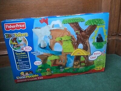 4X Fisher Price Little People Zoo Talkers Animal Friendship Tree House no sound