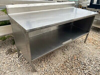 "Heavy Duty 72"" x 29.5"" Commercial Stainless Steel Kitchen Work Table Cabinet"