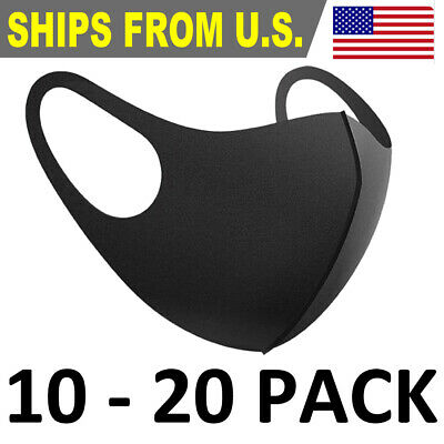 10 PC/20 PC Face Mask Washable Reusable Breathable Thin Mask Stretch Fabric