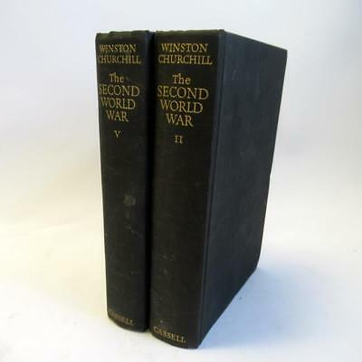 The Second World War by Winston Churchill - Cassell & Co Ltd - Volumes II & V