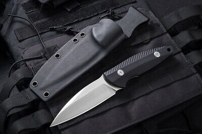 JY Tactical Rescue Straight Knife D2 Fixed Blade G10 Handle with Sheath 002