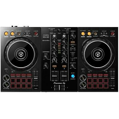 Pioneer DDJ-400 2-Channel Rekordbox DJ Controller w Software & Built-In Mixer