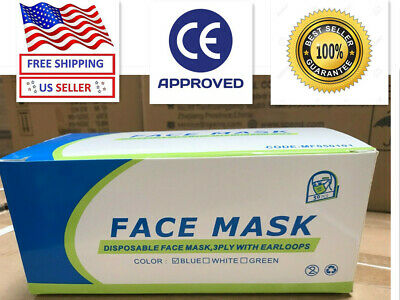 50 PCS ANJI Face Mask Disposable Medical Surgical Dental 3-Ply Mouth Cover