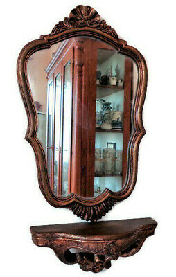 Wall Mounted Console with Gold Gilded Mirror