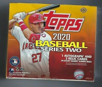 2020 Topps Jumbo Series 2 Factory Sealed Hobby Baseball Card Box & 2 Silver Pack