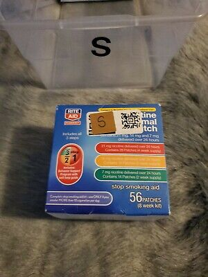 Rite Aid Nicotine Transdermal System 56 Patches Kit Step 1, 2, 3, Exp 7/2020