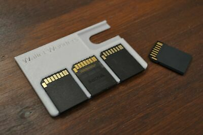 Wallet SD Card Holder! Safely store 4 SD Cards in your wallet!