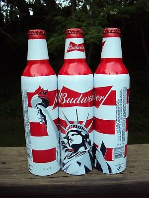 BUDWEISER Beer  * STATUE of LIBERTY * Limited Edition  Aluminum 16 oz. Bottle