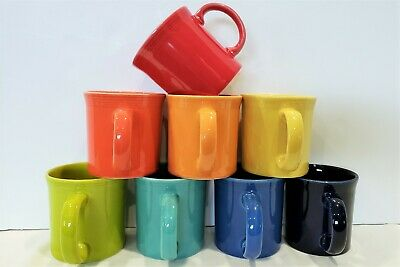 Fiesta Fiestaware, New 2nds, Lot of 8 Java Coffee Mugs, Mixed Color Set