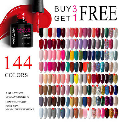 144 Esmalte Semipermanente Brillante de Uñas en Gel Manicura UV LED Soak off