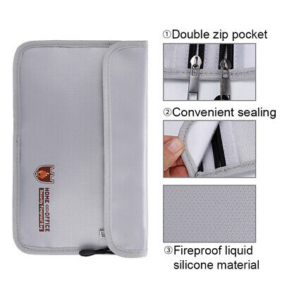 Fireproof Water Resistant Cash Envelope Safe Document Bag File Pouch Well Useful