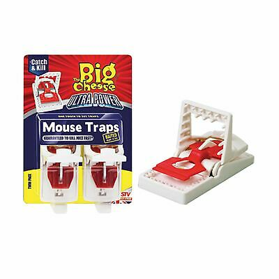 The Big Cheese Ultra Power Mouse Traps Baited Ready To Use, Easy to Set Rodent