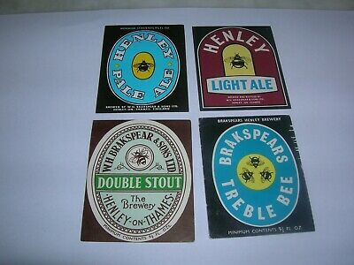 beer labels  W.H. BRAKSPEAR & Sons  Henley on Thames  4 (quattro) different
