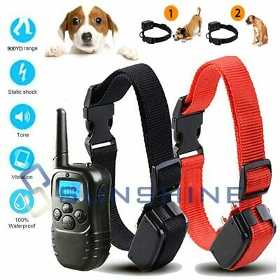 Dog Shock Collar+Training Remote 4 Modes 900 Yard Waterproof for Small Large Pet