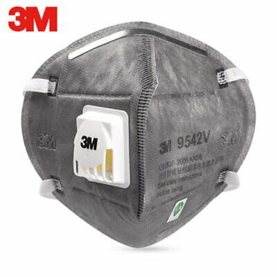 5/25PCS 3M 9542V KN95 Face Mask Disposable Valve Activated Protective Cover