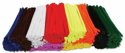500 x Mixed/Random Colours Pipe Cleaners Craft Cleaner Arts & Crafts 15cm x 4mm