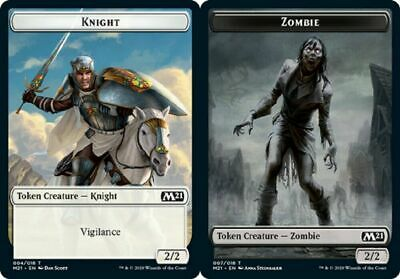 MTG Double Sided Card Magic the Gathering Foil Zombie Token