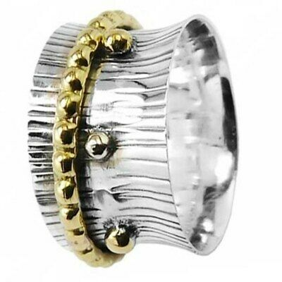 Details about  /925 Sterling Silver Meditation Mantra Yoga Spinner Ring All Size