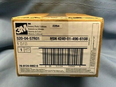 New 3M Lithium Battery Pack 520-04-57R01 Breathe Easy PAPR Respirator PPE w/ Box