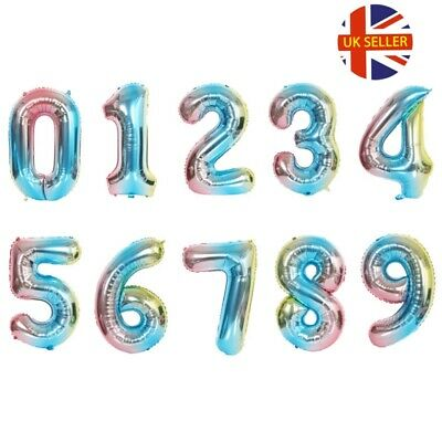 "16/"" Giant Foil Number Air Only Glitz Large Balloons Birthday Party Wedding all"
