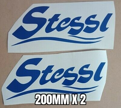 STESSL BOAT DECALS 450mm X 100mm X 2 LEFT /& RIGHT PAIR