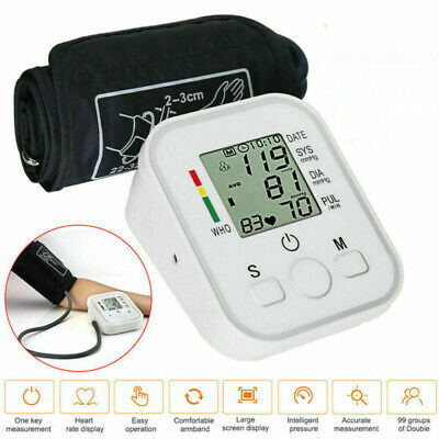 2020 Digital Wrist Arm Blood Pressure Monitor Meter Intellisense 180 Memory UK