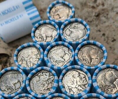 Old Vintage PDS US Coin Lot NO DATE ONE Short $1 Buffalo Nickel Coin Roll
