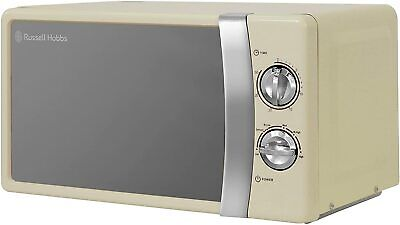RUSSELL HOBBS / Russel Hobs Solo Cream Retro Style Microwave 700W NEW Boxed