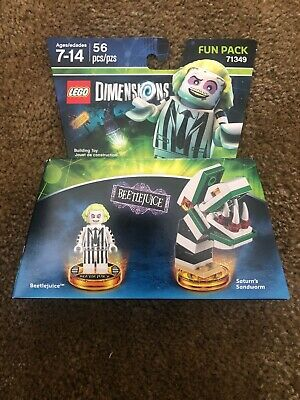 Lego Dimensions Fun Pack Beetlejuice & Saturn's Sandworm 71349 Free Shipping