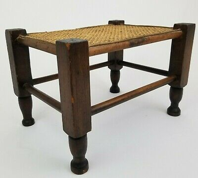 Antique Arts & Crafts Foot Stool Footstool Craftsman Mission Thonet Top Vintage