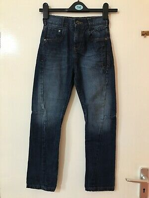 Boys Next AUTHENTIC Blue Elastic AND ZIP Waist Jeans Age 8yrs VGC