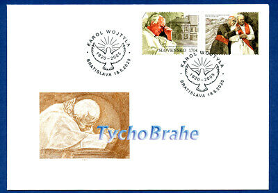 FDC JOHN PAUL II SLOVACCHIA 2020 First Day Cover - GIOVANNI PAOLO SLOVAKIA JOINT