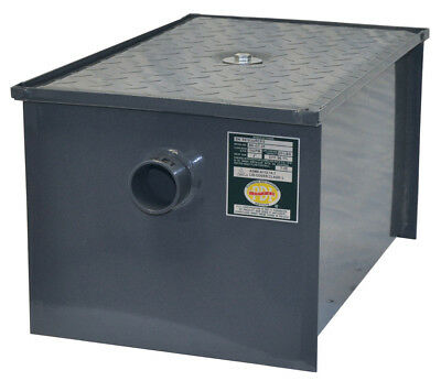GT-30 Grease Trap Interceptor 30 lbs Oil Capacity 15 GPM Rate Flow PDI Certified