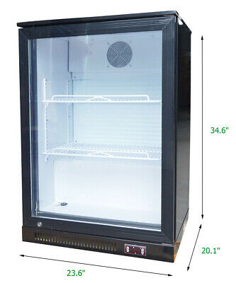 220V Back Bar Vertical Refrigeration Beverage Display Cabinet Bottle Cooler