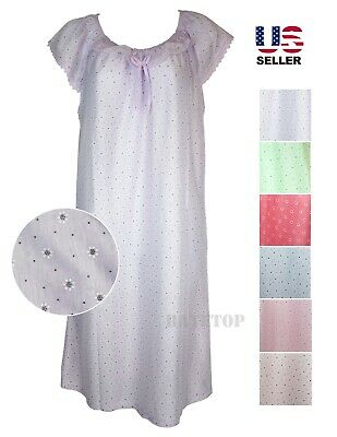 Womens Dress Pajamas Nightgown Sleepshirt Nightshirt Gown One Piece Floral Lace