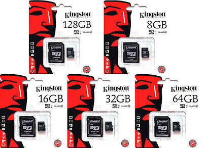 Kingston Micro SD SDHC memory Card Class 10 & 4 Memory with SD card Adapter UK