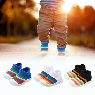 Kids Shoes Baby Girls Boys Rainbow Mesh Sport Run Sneaker Casual Trainers Shoes