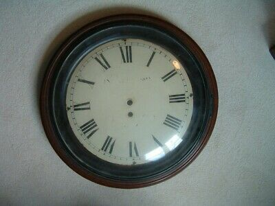 ( FRODSHAM ) spring dial mahogany wall clock early 19th. century, convex glass