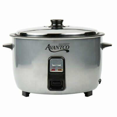 Electric Rice Cooker Warmer Non-stick Aluminum Restaurant Removable Silver 46Cup