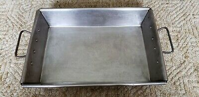 Vintage Heavy Duty Reinforced 18x12x3 Commercial Roasting Pan 2 Handles 1940-50s