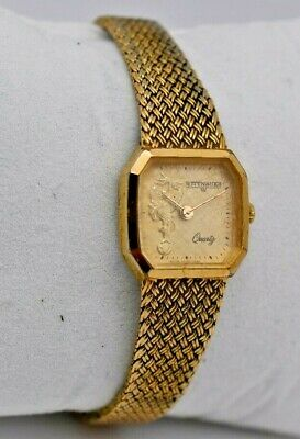 Vintage Ladies WITTNAUER Gold Tone Dress/Cocktail Watch, Quartz, Swiss Made Runs