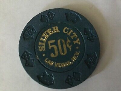 Silver City Casino Las Vegas NV 50-cent fractional casino chip