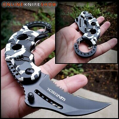 MTECH BLACK TACTICAL SPRING ASSISTED OPENING KNIFE Military Pocket Folding Blade