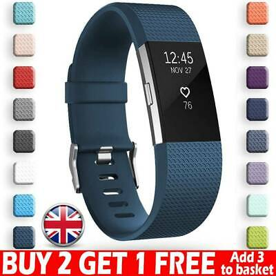For Fitbit Charge 2 Straps Replacement Silicone Watch Band Fitness Wristband UK*