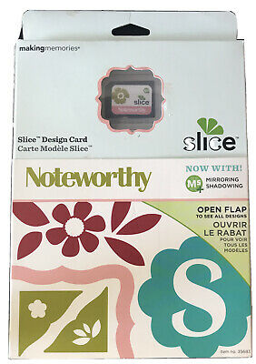 SLICE Design Card Basic Shapes 2 die cut flower butterfly Font Mirror Shadow