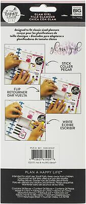 Happy Planner Medium Flip Stickers 5/Sheets-Glam Girl