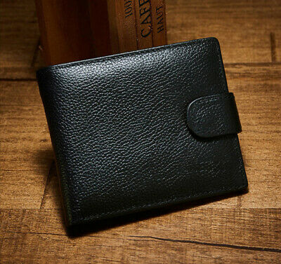 Leather Wallets for Men + 3 Card & Zipped Coin Pocket 2 Note Compartment